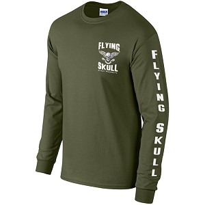 Flying Skull Long Sleeve Shirt
